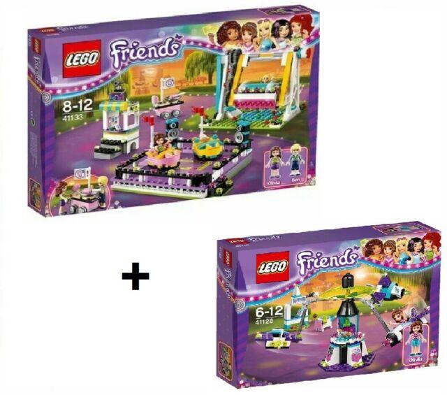 2016 LEGO Friends Amusement Park  41133 Bumper Cars + 41128 Space Ride