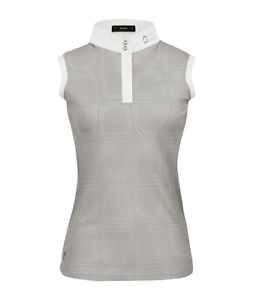 Cavallo Sleeveless Ginger Competition Shirt. Blue UK16 New/Tags RRP£63 FREEPOST!