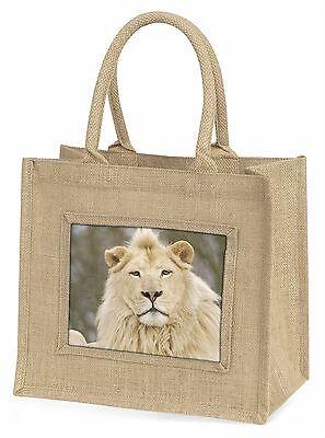 Weißer Löwe Große Natürliche Jute-einkaufstasche Weihnachten , AT-45BLN