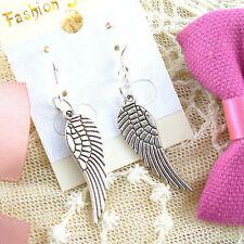 Wholesale Lady 2 Pair/lot Charm Fashion Jewelry Silver Angel Wings Stud Earrings