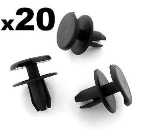 20x-Opel-Astra-Signum-Vectra-Parachoques-Delantero-Clips-Plastico-Remaches