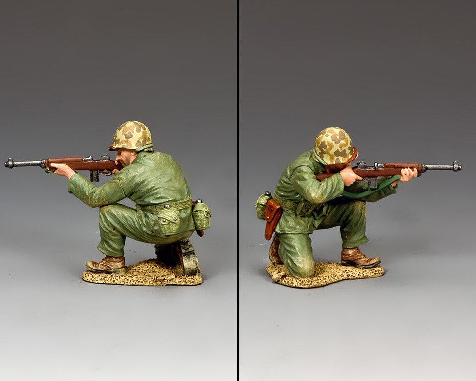 KING & COUNTRY U.S.M.C. USMC024 U.S. MARINE KNEELING FIRING CARBINE MIB