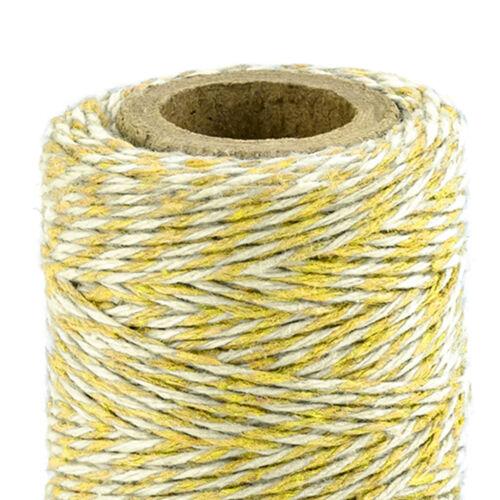 Dekoband 50 m amarillo bäckergarn bucles banda banda regalo de boda muchos colores