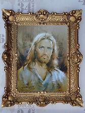 Gemälde Jesus Maria Ikonen Repro BAROCK Antik look 56x46 cm Religiöse Bilder 1