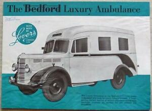BEDFORD AMBULANCE with LEVERS Body Sales Brochure 1948 #B500/4.48