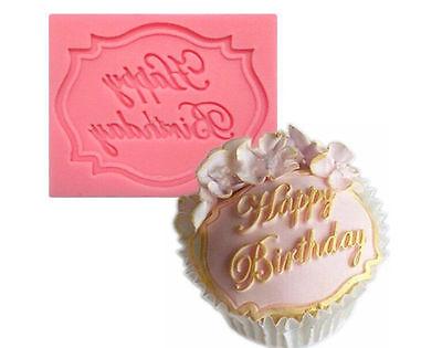 Happy Birthday Silicone Cake Fondant Mould Decorating Chocolate Baking Mold HS7