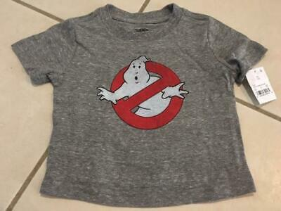 Toddler Boys/' Ghostbusters Logo Short Sleeve T-Shirt 5T #a855 Gray 12M