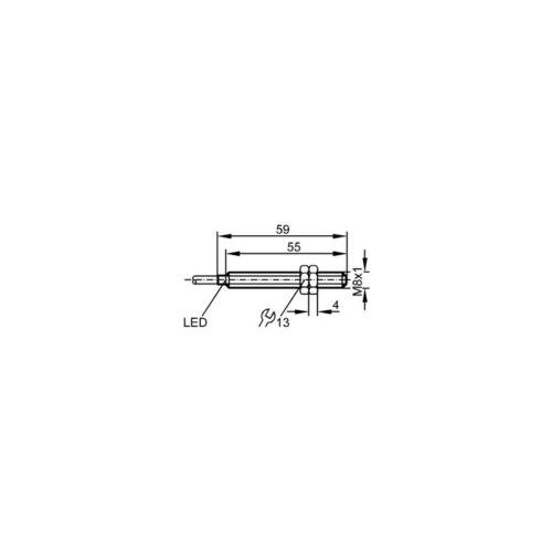 IFM IE5260 Inductive Sensor M8 DC PNP sans câble 2 mm 2 m 000367