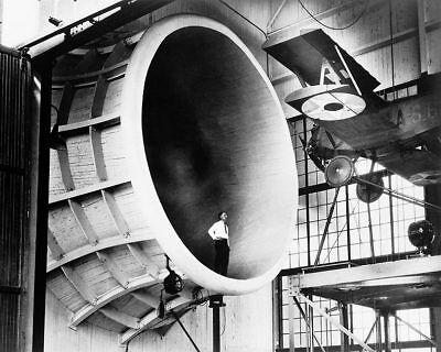 M-1 Sperry Kuriertasche In Naca Research Tunnel 11x14 Silber Halogen Fotodruck Sammeln & Seltenes