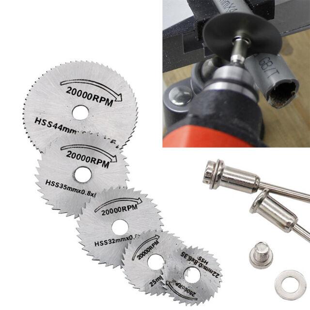 HSS Circular Wood Cutting Saw Blade Discs+Mandrel Drill For Rotary Tool PAN