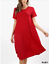 S-XL Zanana Womens  Premium Viscose Short Sleeve Tunic Dress