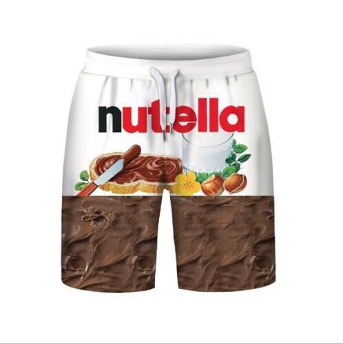 nutella a S e cioccolato Giaccone maniche 3xl da stampa uomo senza Pantaloncini Set con 7wFAxqn4z1