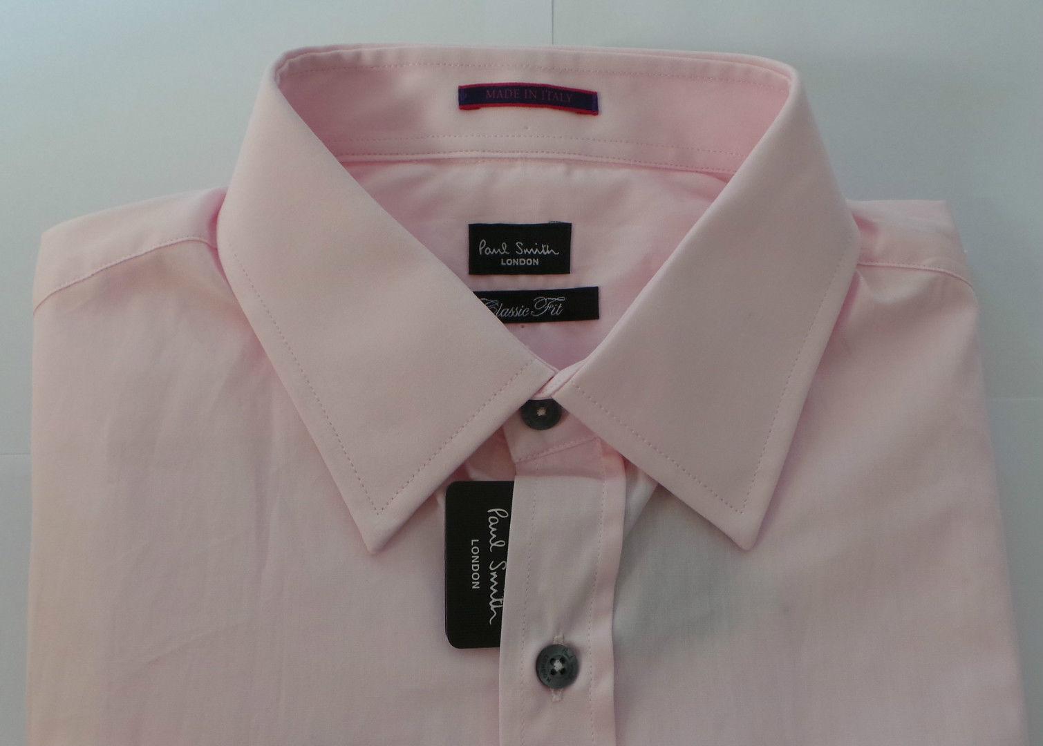 Paul Smith Camicia Camicia Camicia Taglia 15 Medium polsini doppi Multi-a righe rosa 5775a3