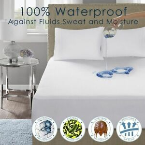Cotton-Cover-100-Waterproof-Protector-Bed-Bug-Proof-Dust-Mite-Mattress-Cover