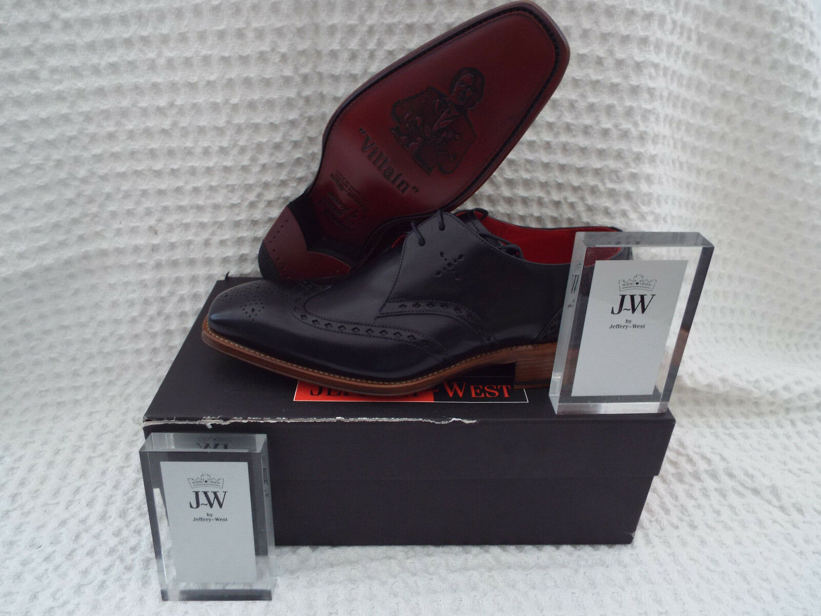 JEFFERY WEST Canfield Polished Derby Schuhes