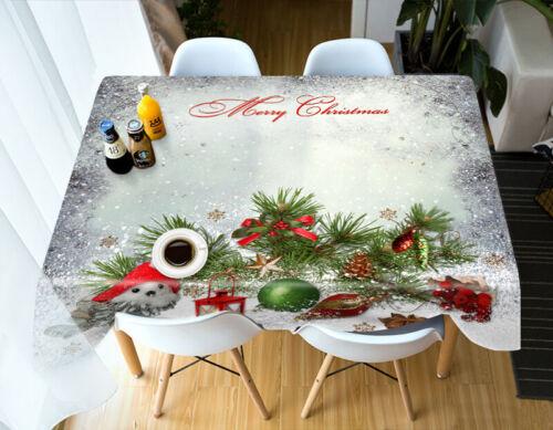 3D Grüne Blatt-Bo M20 Christmas Tischdecke Tischdecke Tuch Geburtstagsfeier Ange