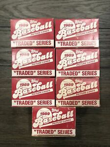 7-1989-Topps-Traded-Set-Lot-Unopened-amp-Fresh-Ken-Griffey-Jr-Mint-Rookie-Rc