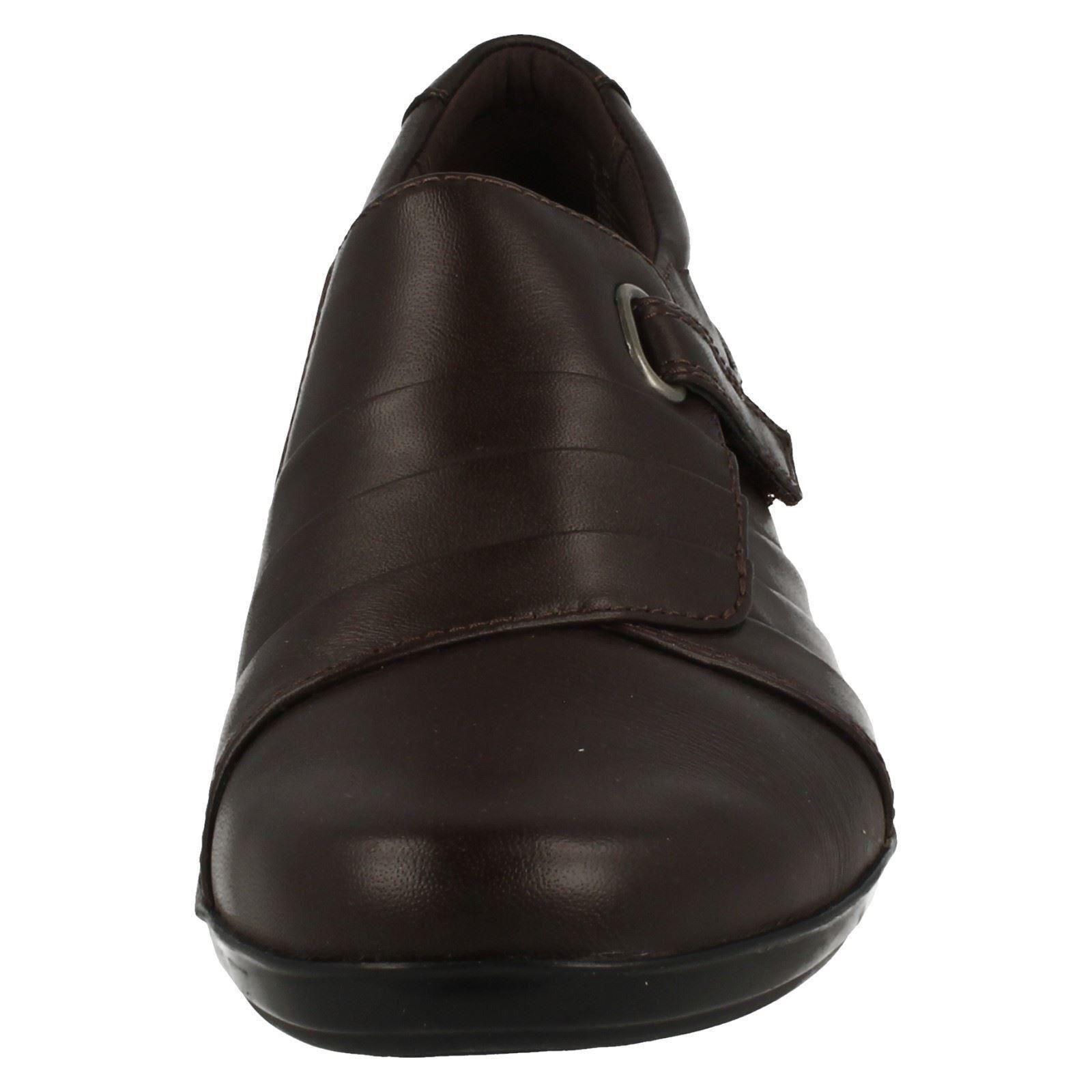Damen Schwarz/ Stirn Leder Clarks Hose Schuhe 9 UK Größen 4 - 9 Schuhe Everlay Luna 5947df