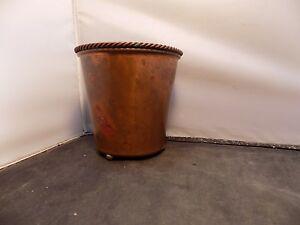 RARE-COPPER-SCIARROTTA-vase-Ball-Feet