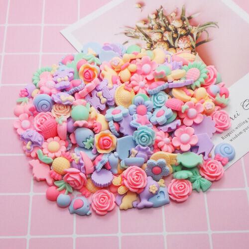 Craft Scrapbook Resin Flatback Flower Mix Phonecover Lots Diy Button 3D
