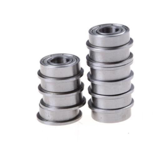 10pcs F686 F686ZZ Mini Metal Double Shielded Flanged Ball Bearings 6*13*5mm  S6
