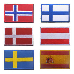 Patch Printed Badge Iron On Flag Patch Flag Norway