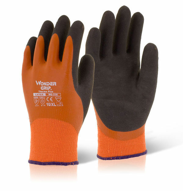 Wonder Grip WG-338 THERMO Plus Latex Waterproof & Warm Gloves Size 8/M
