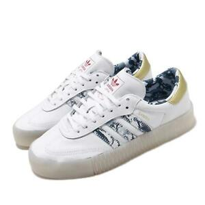 Details about adidas Originals Sambarose W White Gold Womens Casual Lifestyle Shoes FW5345