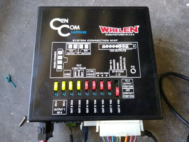 Whelen Cencom Sapphire Complete Take Out With Siren  Mic  And Control Panel