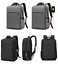 miniature 1 - New Men Canvas School Backpack Casual Notebook Travel Laptop Bag BL