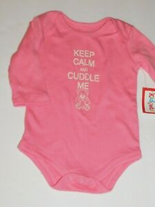 NEW Baby Girls 3-6 Months Bodysuit Creeper Outfit Infant 1 Piece Pink Cat Cute