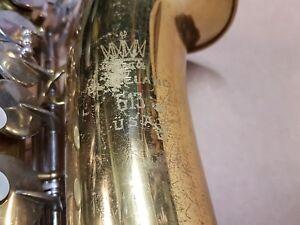 1976 King 613 Alt/alto Sax/saxophone-made In Usa-afficher Le Titre D'origine Avoir Une Longue Position Historique