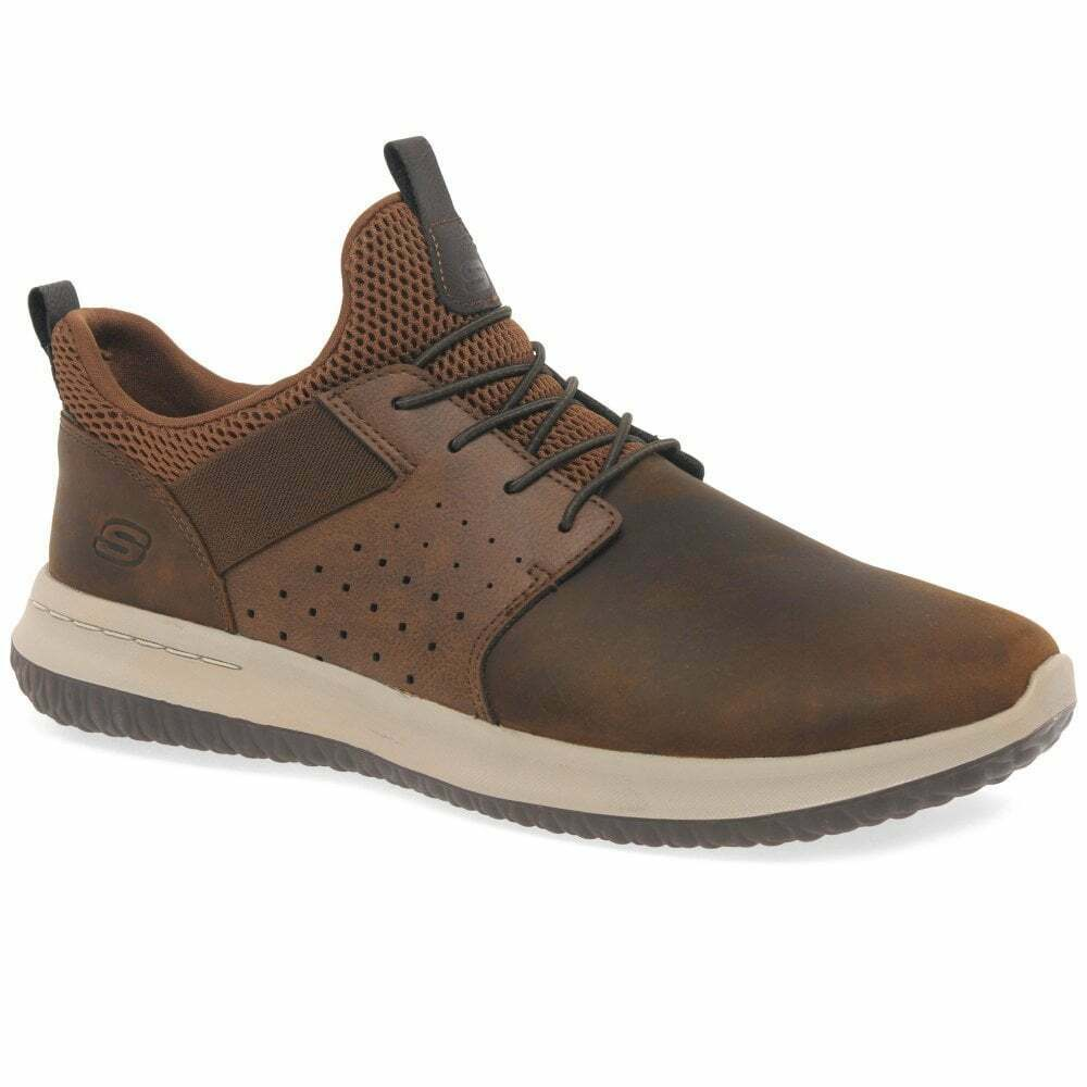 Skechers Delson Axton Mens Leather shoes