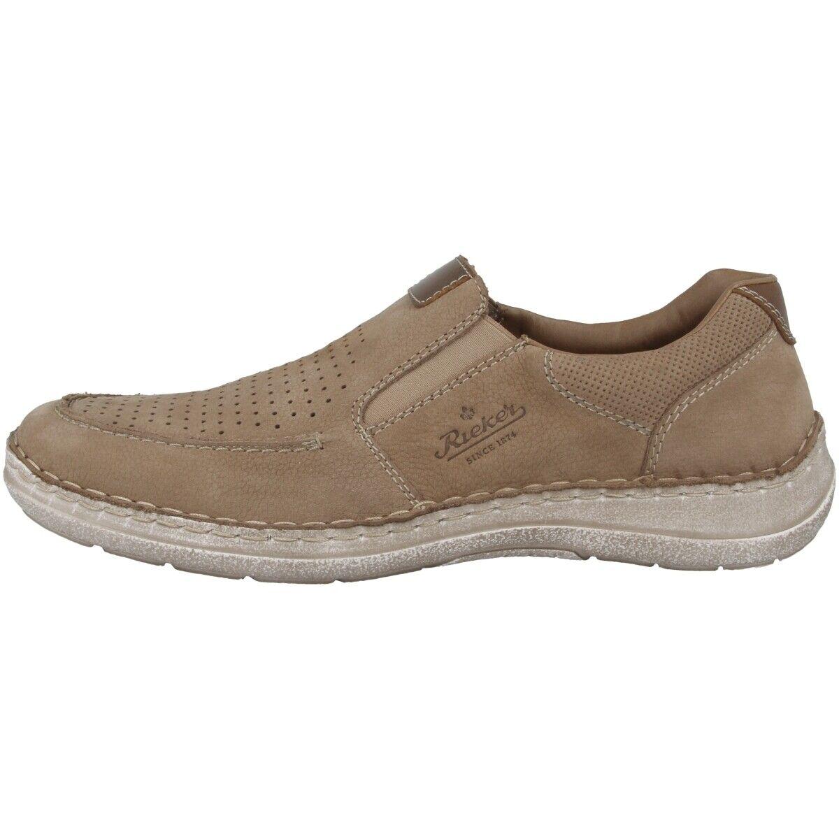 Rieker Jaipur-ambor zapatos caballero Men ocio zapato bajo mocasines Camel 03067-21
