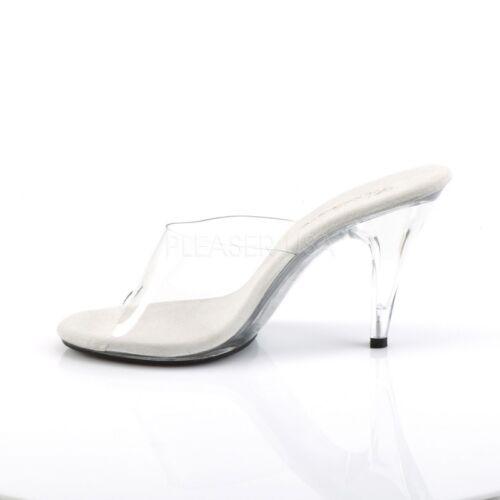 Fabulicious Mini Gogo Dance Sexy 401 da tavola Mules Caress platform Trasparente HHBw6Orq