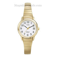 Timex Ladies Indiglo Gold Tone Watch With Date