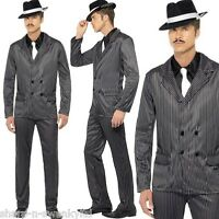 Adult Mens 1920s Gangster Gangsta Bugsy Malone Fancy Dress Costume Outfit M & L