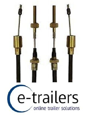 Threaded end 26mm Cup 2 x 1430mm Alko Trailer Brake Cable Long life