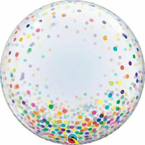 filled with confetti. Deco Bubble Qualatex Clear balloon round star shape clear with pink confetti 20 22 24 can be personalized