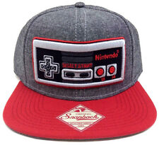 GREY NINTENDO NES CONTROLLER SNAPBACK HAT CAP NEW SUPER MARIO BROS. ERA WORLD