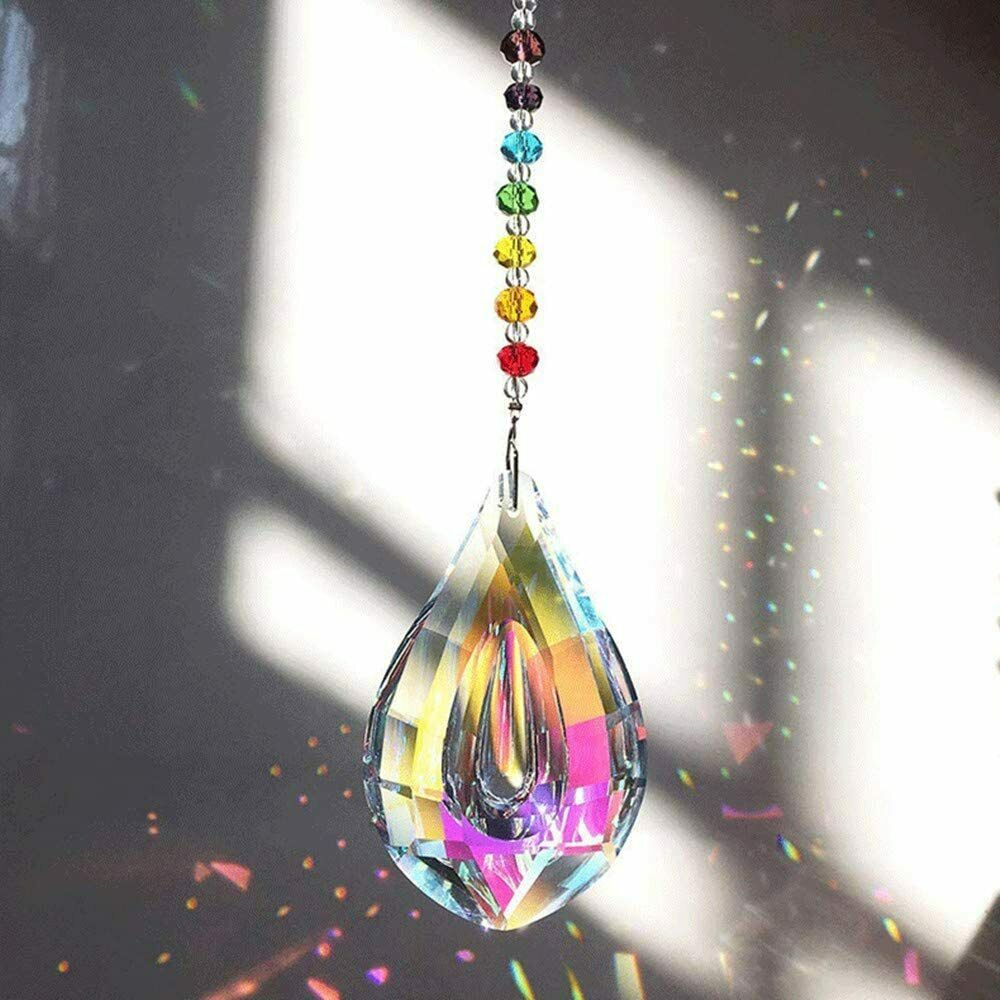 Crystals Ball Prisms Suncatcher, Rainbow Sun Catcher Hanging Home Garden Decor
