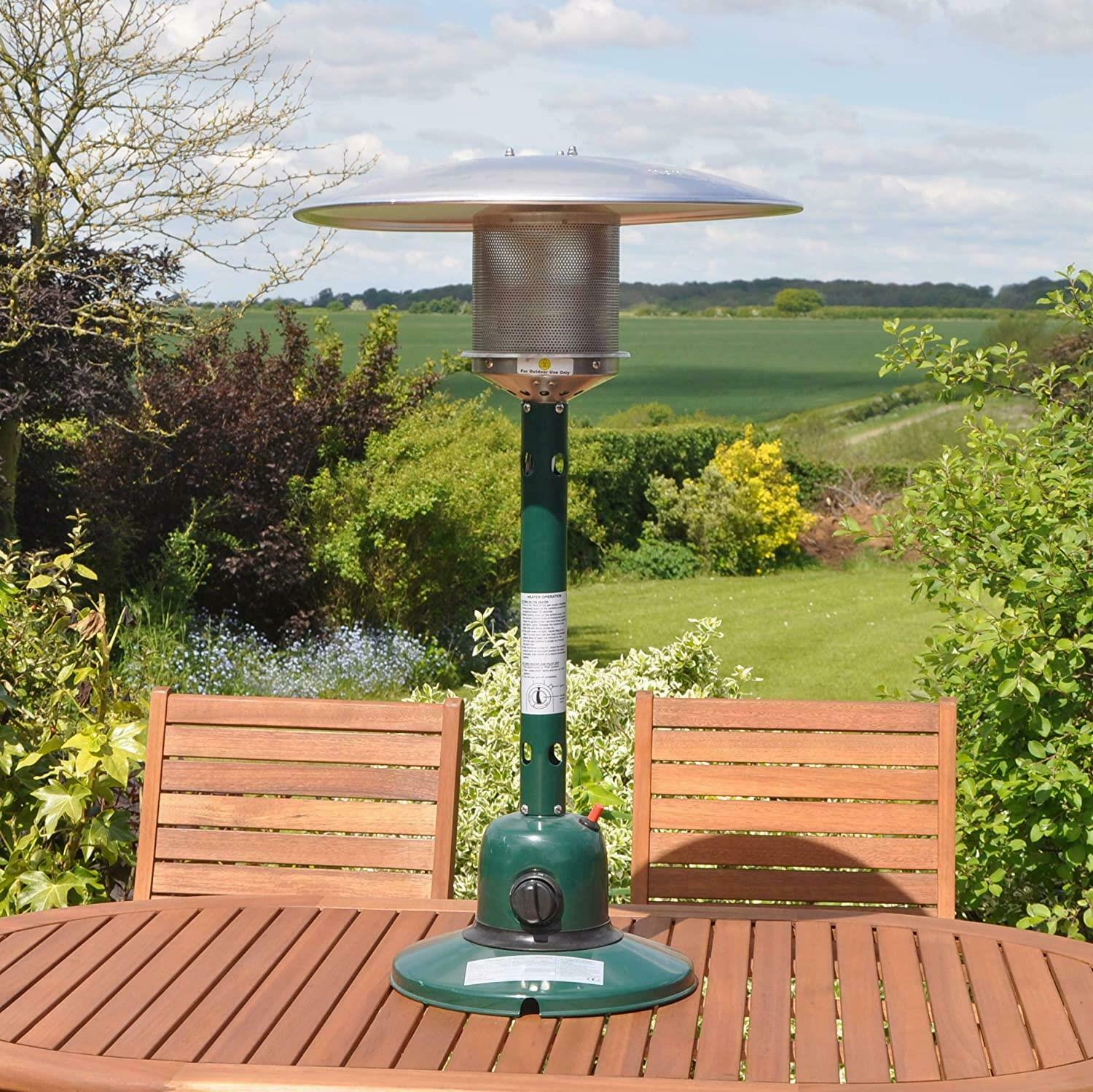 4KW Garden Outdoor Gas Patio Heater for Gardens Table Top Stainless Steel