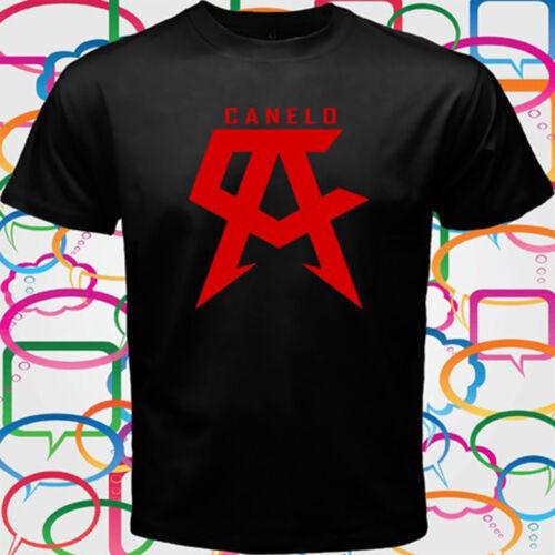 SAUL ALVAREZ CANELO Boxing Champ Men/'s Black T-Shirt Size S to 3XL
