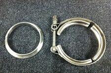 """V-Band Schelle + Ring 3"""" 76mm 75 Turbolader Gt30 Gt35 Gt28 Garrett T3 T4 R"""
