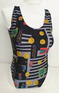 DUPONT Black Women's UK14 NEW Swimsuit One Piece Captain Black Swimwear F806