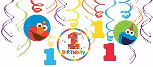 Sesame-Street-Elmo-Big-Bird-1st-Birthday-Swirl-Decoration-Party-Favor-Supplies