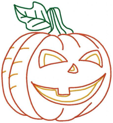 Halloween Pumpkins 10 Machine Embroidery Designs CD 9 sizes in Satin /& Outline