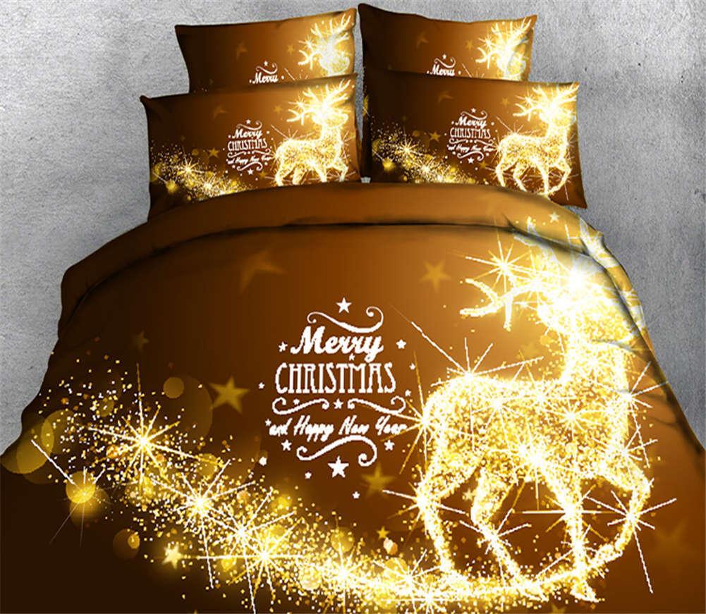 Moral Glaring Light 3D Printing Duvet Quilt Doona Covers Pillow Case Bedding Set