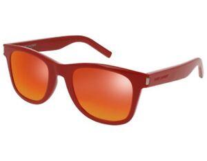84c0f74868 NEW Yves Saint Laurent SL51 RAINBOW 003 50mm Red   Red Sunglasses ...