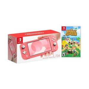 Nintendo Switch Lite Coral & Animal Crossing game combo | eBay